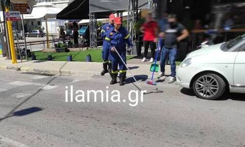 Λαμία: Φίδι αναστάτωσε το κέντρο της  πόλης (pics)