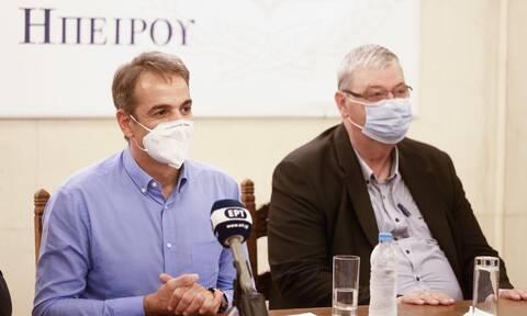 Μητσοτάκης από Ιωάννινα: Να πείσουμε όσο το δυνατόν περισσότερους συμπολίτες μας να εμβολιαστούν