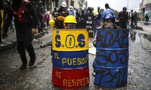 Κρίση στην Κολομβία: Νεκρός 23χρονος διαδηλωτής, 4 αστυνομικοί τραυματίες στην Κάλι