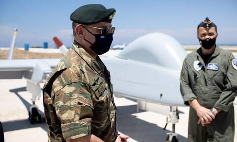 Στρατηγός Φλώρος: Στη «φωλιά» των... ιπτάμενων κατασκόπων - Έτοιμα για δράση τα UAV HERON στη Σκύρο