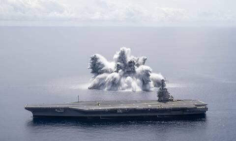 Βίντεο: Το ναυτικό των ΗΠΑ δοκίμασε το νέο του αεροπλανοφόρο με 18 τόνους εκρηκτικά