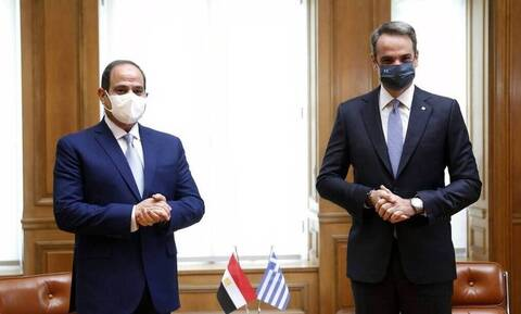 Mitsotakis, Sisi call for closer collaboration towards stability and security in East Mediterranean