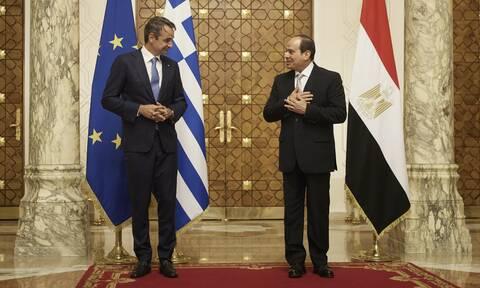 Μητσοτάκης από Αίγυπτο: Εμβάθυνση της συνεργασίας και βούληση για λύσεις σε Λιβύη και Κύπρο
