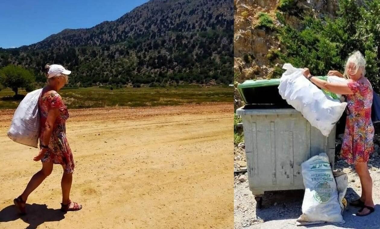 Ολλανδοί τουρίστες «έβαλαν τα γυαλιά» στους Κρητικούς για το μάζεμα των σκουπιδιών