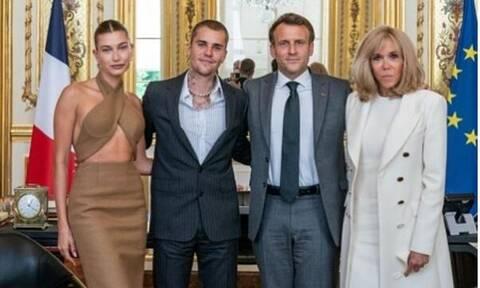 Γαλλία: Όταν ο Τζάστιν Μπίμπερ συνάντησε τον Εμανουέλ Μακρόν στο μέγαρο των Ηλυσίων