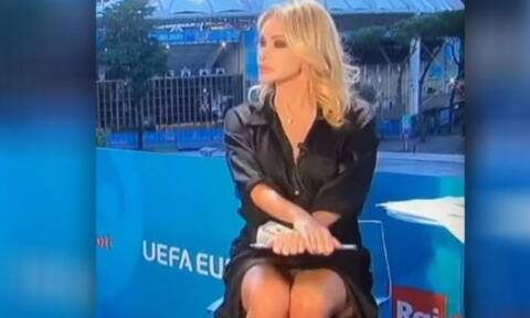 Euro 2020: Παρουσιάστρια είχε ατύχημα αλά… Σάρον Στόουν και έγινε viral (pics+vid)