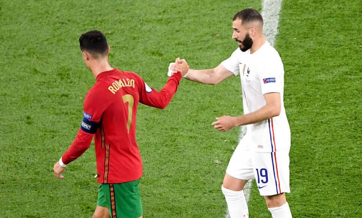 Euro 2020 Πορτογαλία - Γαλλία 2-2: Πρόκριση με ρεκόρ Ρονάλντο, πρώτη η Γαλλία με Μπενζεμά