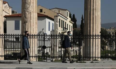 Μάσκες Αθήνα βολτα