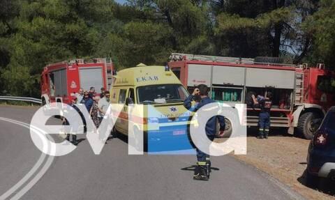 Συναγερμός στην Εύβοια: Ζευγάρι έπεσε με ΙΧ σε χαράδρα 100 μέτρων