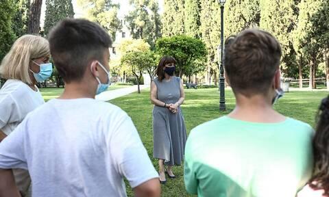 Κατερίνα Σακελλαροπούλου: Υποδέχθηκε παιδιά από την Παιδόπολη «Άγιος Ανδρέας»