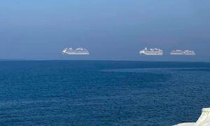 Κύπρος: Τα πλοία «αιωρούνται» - Η φωτογραφία που έγινε viral