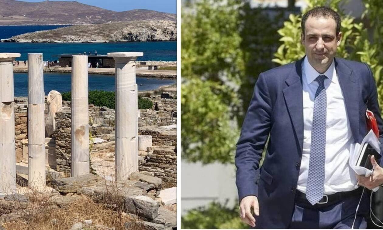 Πεντακάθαρα το λιμάνι και ο αρχαιολογικός χώρος της Δήλου - Ο ρόλος του Γρηγόρη Δημητριάδη