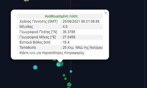 Σεισμός ΤΩΡΑ στη Νίσυρο