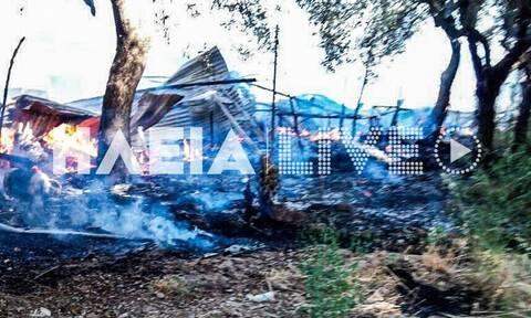 Φωτιά στη Νέα Μανωλάδα: Δεν έχει αναφερθεί κάποιος τραυματισμός