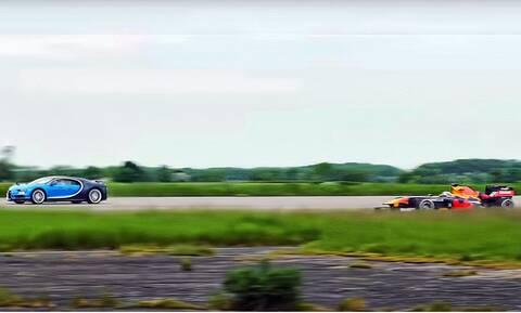 Δείτε την κόντρα μίας Bugatti Chiron με μία Red Bull Formula 1