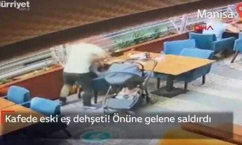 Τουρκία: Άγριος ξυλοδαρμός γυναίκας από τον πρώην της σε καφετέρια