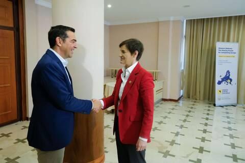 Τα Δυτικά Βαλκάνια στο επίκεντρο της συνάντησης Τσίπρα με την πρωθυπουργό της Σερβίας