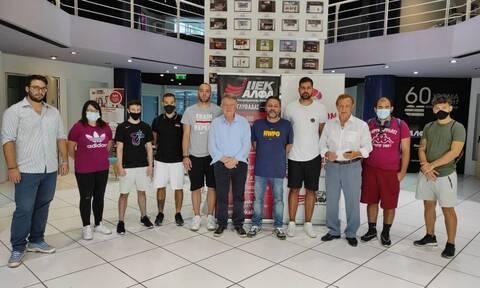 To ΙΕΚ ΑΛΦΑ τίμησε την ΚΑΕ ΛΑΥΡΙΟ Megabolt και τον προπονητή της χρονιάς, Χρήστο Σερέλη