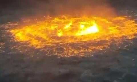 «Πύρινο μάτι» στον Κόλπο του Μεξικού: Πυρκαγιά από διαρροή αερίου σε υποβρύχιο αγωγό