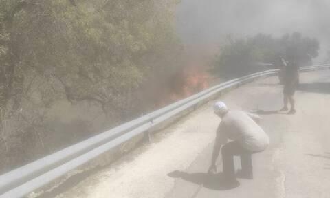 Φωτιά στην Κεφαλονιά: Μαίνεται το μεγάλο μέτωπο - Καταγγελία ότι η πυρκαγιά ξεκίνησε από βοσκό