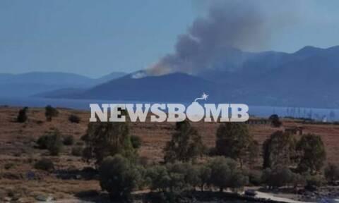 Ρεπορτάζ Newsbomb.gr: Υπό έλεγχο η φωτιά Μέθανα - Κάηκαν δύο σπίτια