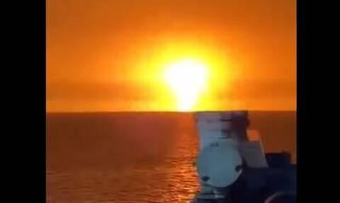 Γιγαντιαία έκρηξη στην Κασπία Θάλασσα