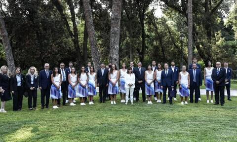 Κατερίνα Σακελλαροπούλου: Στην Πρόεδρο της Δημοκρατίας η Ολυμπιακή ομάδα (photos)