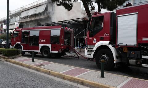 Φωτιά ΤΩΡΑ στη Μηχανιώνα Θεσσαλονίκης
