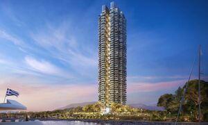 Lamda Development представила план небоскреба Marina Tower, который будет построен в Эллинико