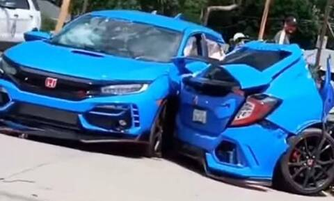 Δείτε ένα Honda Type R κομμένο στα… δύο σε ένα σοκαριστικό ατύχημα