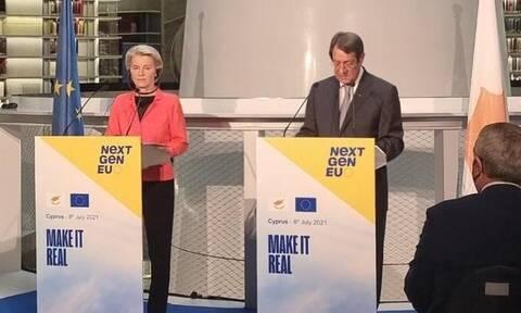 «Ράπισμα» φον ντερ Λάιεν στον Ερντογάν: Όταν μιλάτε στην Κύπρο μιλάτε στην ΕΕ – Ποτέ λύση δύο κρατών
