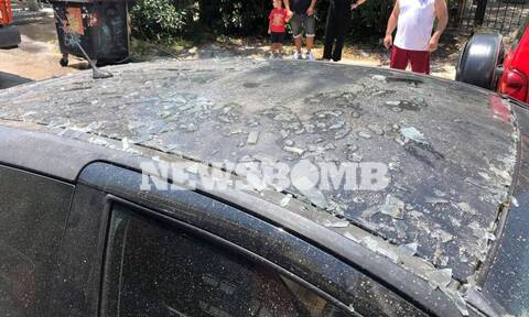 Ρεπορτάζ Newsbomb.gr: Έκρηξη σε αποθήκη στο Περιστέρι - Βίντεο ντοκουμέντο από τη φωτιά