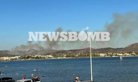 Φωτιά στην Ανάβυσσο: Πρόλαβαν τα χειρότερα οι πυροσβέστες - Εκκενώθηκε προληπτικά οικισμός