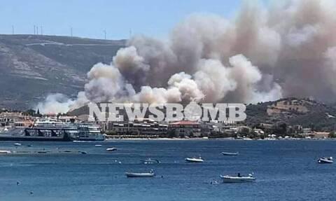 Φωτιά Εύβοια: «Η κατάσταση παραμένει εφιαλτική» - Εκκενώθηκαν δύο οικισμοί (vids)