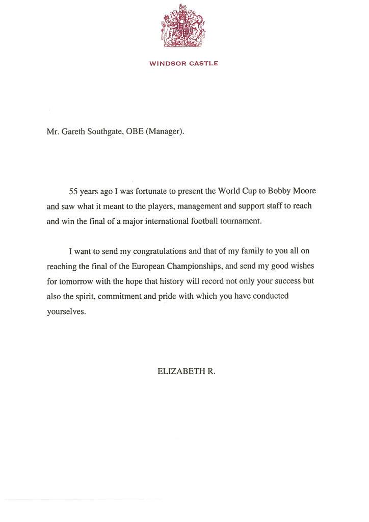 Επιστολή βασίλισσας Ελισάβετ
