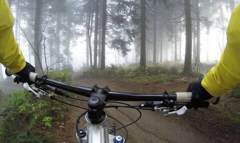 Τρομακτική συνάντηση για ποδηλάτη - «Πάγωσε» με αυτό που αντίκρυσε (video+photos)