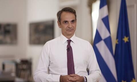 Ο Πρωθυπουργός Κυριάκος Μητσοτάκης στο διάγγελμά του
