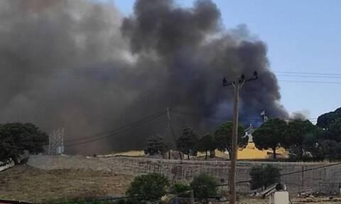 Φωτιά - Μυτιλήνη: Μεγάλη καταστροφή στον Συνεταιρισμό Μεσοτόπου