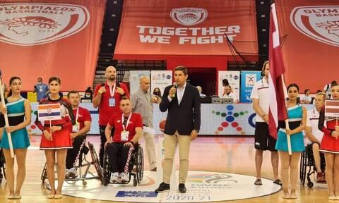 Ευρωπαϊκό Πρωτάθλημα Μπάσκετ με Αμαξίδιο: Τελετή έναρξης παρουσία Αυγενάκη