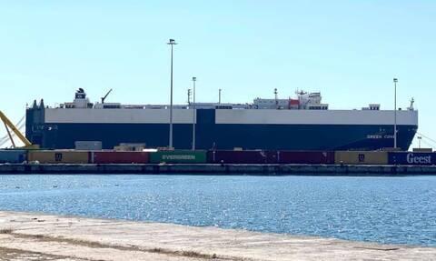 Στο λιμάνι της Αλεξανδρούπολης το αμερικανικό «μεγαθήριο» GREEN COVE