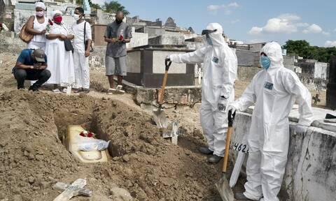 «Θερίζει» ο κορονοϊός τη Βραζιλία: 1.556 θάνατοι και 57.736 κρούσματα σε 24 ώρες