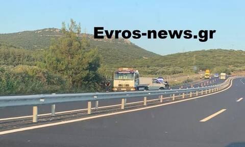 Αλεξανδρούπολη: Φρικτό τροχαίο στην Εγνατία Οδό - Ακρωτηριάστηκε ζευγάρι τουριστών