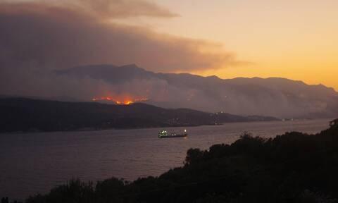 Φωτιά: Σε πύρινο κλοιό η Σάμος - Ολονύχτιες μάχες των πυροσβεστών σε Κοκκάρι και Μυτιληνιούς