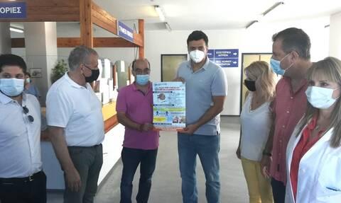 Επίσκεψη Κικίλια στο Γενικό Νοσοκομείο Σάμου - Αυξήθηκαν οι εμβολιασμοί στο νησί