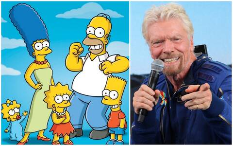 Απίστευτο: Οι Simpsons είχαν προβλέψει και το ταξίδι του Μπράνσον στο Διάστημα!