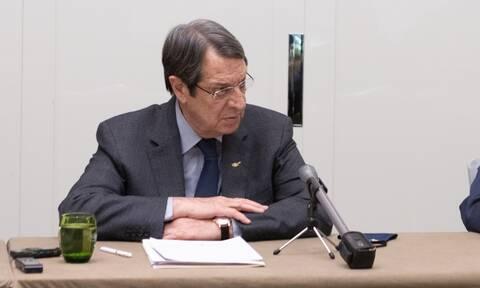 Κύπρος: Ηχηρό μήνυμα Αναστασιάδη στην Τουρκία - Κανένα προαπαιτούμενο δεκτό για τον διάλογο
