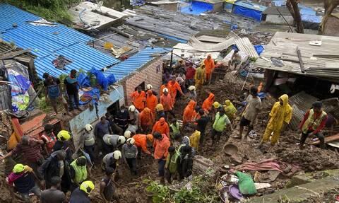 Ινδία : Τουλάχιστον 25 άνθρωποι έχασαν τη ζωή τους απο τις κατολισθήσεις στο Μουμπάι