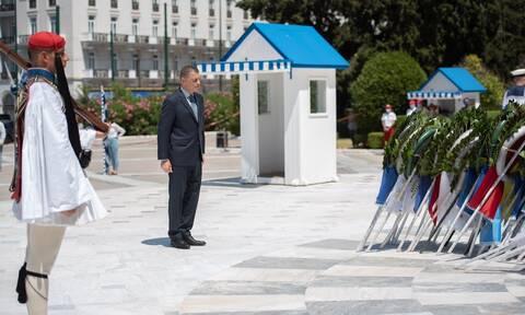 Στεφανής: Κατέθεσε στεφάνι για τους πεσόντες κατά την τουρκική εισβολή στην Κύπρο το 1974