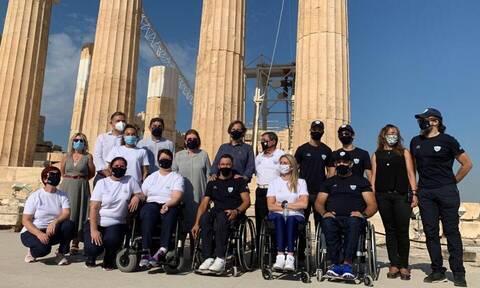 Στην Ακρόπολη η Ελληνική Παραολυμπιακή Ομάδα