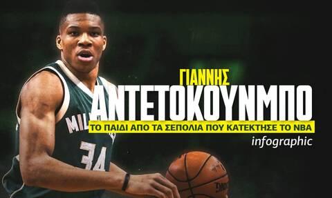 Γιάννης Αντετοκούνμπο: Από τα Σεπόλια, στην κορυφή του NBA - Δείτε το Infographic του Newsbomb.gr